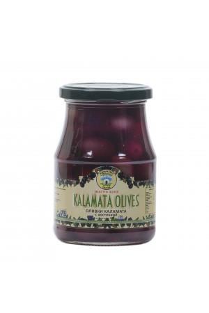 Оливки Каламата с косточкой 0,37 кг ст/б