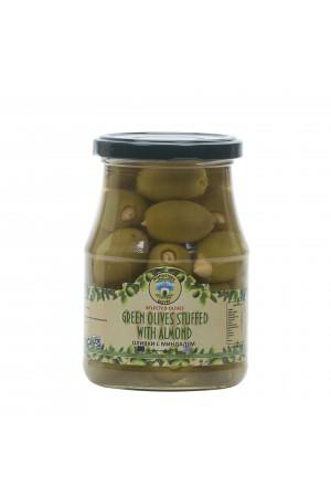 Оливки зеленые крупные c миндалем 0,37 кг ст/б