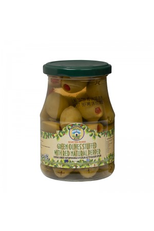Оливки фаршированные Натуральным Красным Перцем
