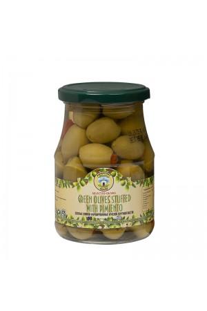 Оливки фаршированные перечной пастой