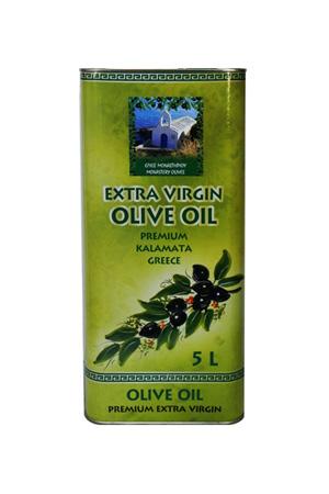 """Масло оливковое 5,0 л ж/б Первого холодного отжима EVOO """"Монастырские оливы"""""""
